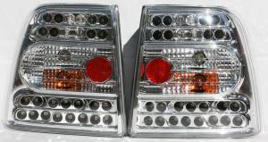 VW Passat B5 sedan zadní LED světla. Chrom
