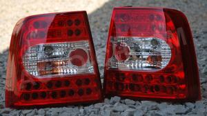 VW Passat B5 sedan zadní LED světla. RED