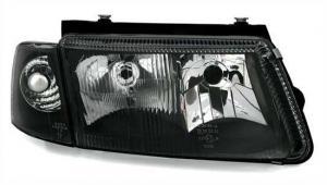 VW Passat B5 Černá přední světla s mlhovkou. (H4+H7)