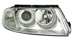 VW Passat B5.5 (3BG) přední světla Angel Eyes-Chrom.
