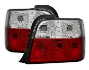 BMW E36 (compact) zadní světla - Red/White.
