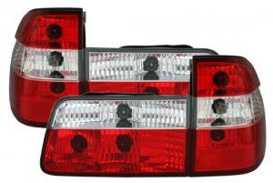BMW E39 (touring) zadní crystal světla - Red/White.
