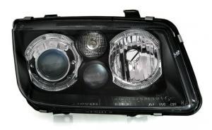 VW Bora přední světla Angel Eyes-Black