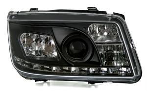 VW Bora přední světla DAYLINE-Black