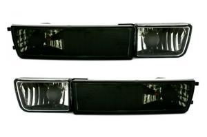 VW Golf 3 přední blinkry s mlhovkou - Black.