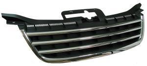 VW Touran - přední maska bez znaku - Black/Chrom.