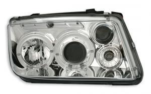 VW Bora přední světla Angel Eyes-Chrom