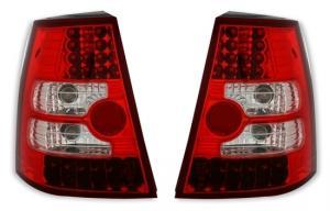 VW Bora (variant) zadní LED crystal světla Red/White.