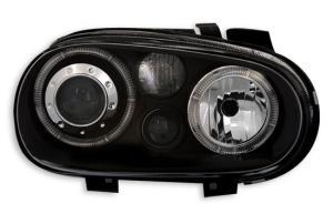 VW Golf 4 přední světla Angel Eyes-Black