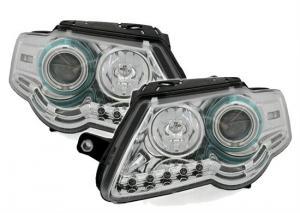 VW Passat B6 přední světla Angel Eyes CCFL-Chrom