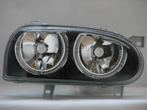 VW Golf 3 přední světla Angel Eyes-Black