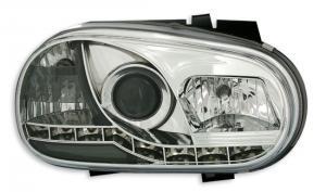 VW Golf 4 přední světla DAYLINE-Chrom