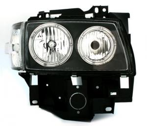 VW T4 přední světla Angel Eyes-Black