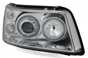 VW T5 přední světla Angel Eyes-Chrom.
