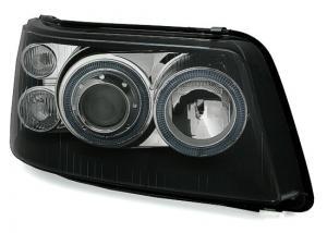 VW T5 přední světla Angel Eyes-Black