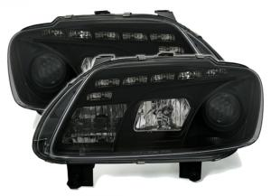 VW Touran přední černá Day Line světla.