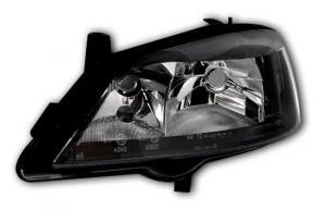 Opel Astra G přední světlo-Black-Levé