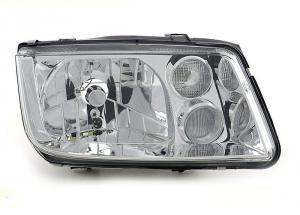 VW Bora přední pravé světlo Chrom- s mlhovkou.