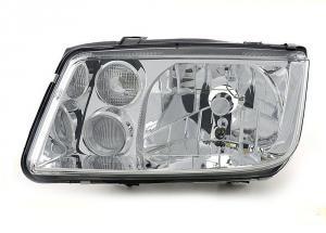 VW Bora přední levé světlo Chrom- s mlhovkou.