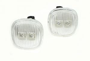 Škoda Fabia boční LED blikače-Chrom.
