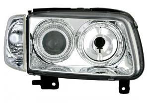VW Polo přední světla Angel Eyes-Chrom