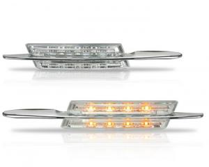 BMW E39 boční LED blikače-chrom.