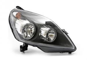 Opel Zafira B přední světlo - black - pravé.