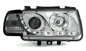 VW Polo přední světla DAYLINE-Chrom