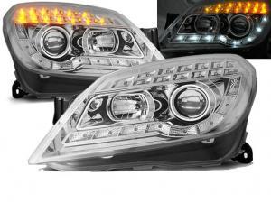 Opel Astra H přední Day Line světla - Chrom.