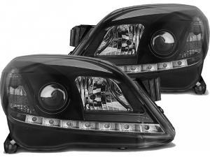 Opel Astra H přední Day Line světla - Black.