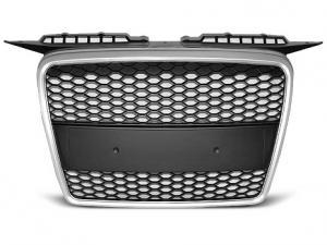 Audi A3 přední maska bez znaku - Stříbrná.