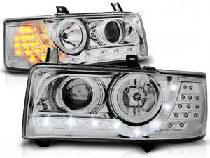 VW T4 přední světla DAYLINE-Chrom.