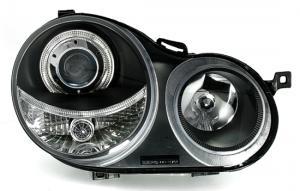 VW Polo přední světla Angel Eyes-Black