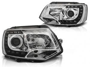 VW T5 přední světla DAYLINE-Chrom.