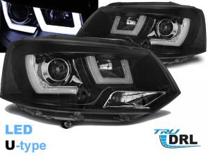 VW T5 přední světla U-TYPE BLACK.