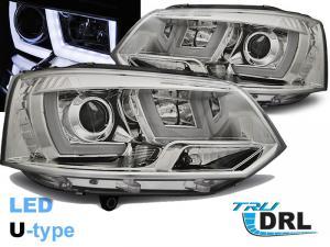 VW T5 přední světla U-TYPE CHROM.
