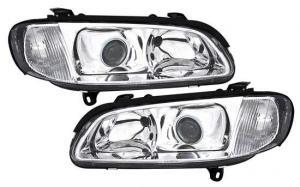 Opel Omega přední světla-Chrom