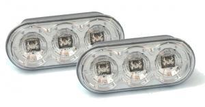 Boční LED Blikače -  Chrom