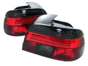 BMW E39 zadní crystal světla - Red/Smoke.