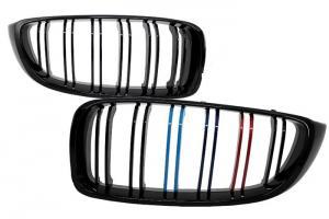 BMW F32- přední ledvinky - Black.