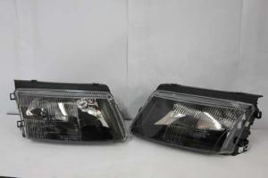 VW Passat B5 Černá přední světla. (H1+H7)