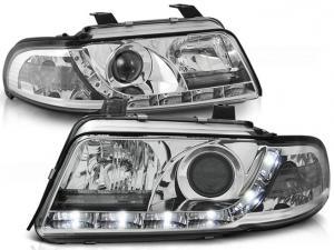 Audi A4 přední světla DAYLINE-Chrom.