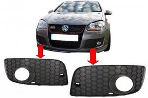 VW Golf 5 - rámečky kolem mlhovek - GTi nárazník.