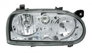 VW Golf 3 přední světla-Chrom.
