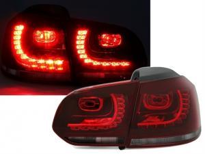 VW Golf 6 - zadní LED světla Red/Smoke.