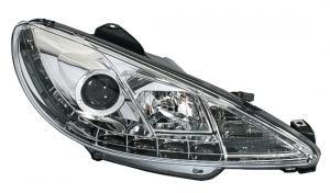 Peugeot 206 přední DayLine světla - Chrom.