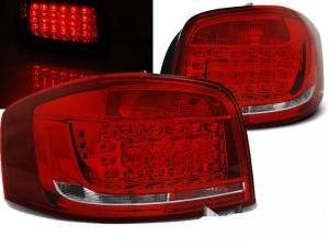 Audi A3 08-12 zadní LED světla RedWhite