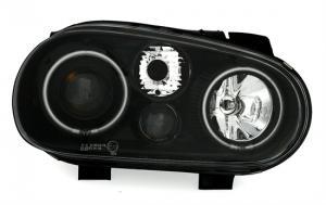 VW Golf 4 přední světla Angel Eyes-Black CCFL