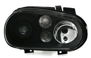 VW Golf 4 přední černá světla s čočkou. Xenon D2S.
