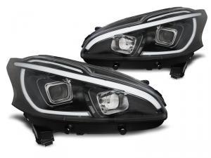 Peugeot 208 TUBE LIGHT BLACK - přední světla.